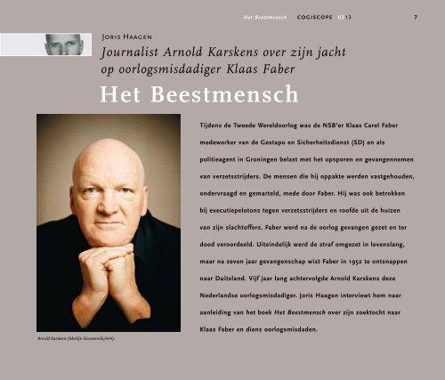 Het Beestmensch. Journalist Arnold Karskens over zijn jacht - Cogis
