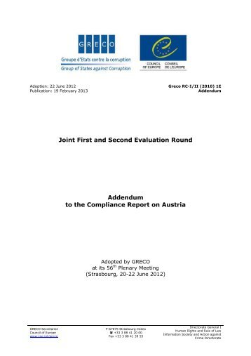 Report - Council of Europe