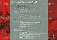 Semper und Wagner - Collegium Helveticum - ETH Zürich