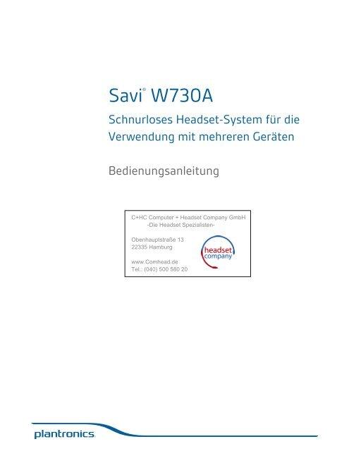 Plantronics Savi W730 Anleitung - Headset Company