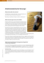 Arbeitsmedizinische Vorsorge Gesundheitsstörungen und ...