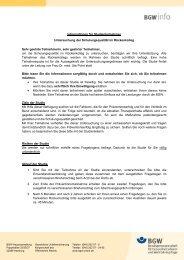 Informationen für Studienteilnehmer Untersuchung der ...
