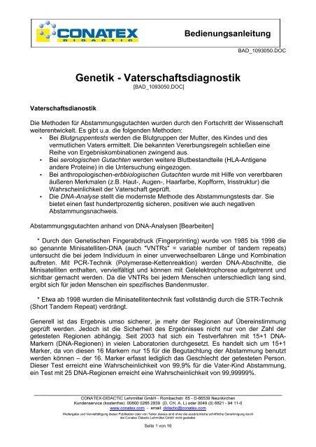 Genetischer Dna Fingerabdruck Vaterschaftsdiagnostik