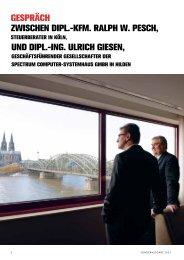 Kfm. ralph w. pesch, unD Dipl.-inG. ulrich Giesen - Content-Corner