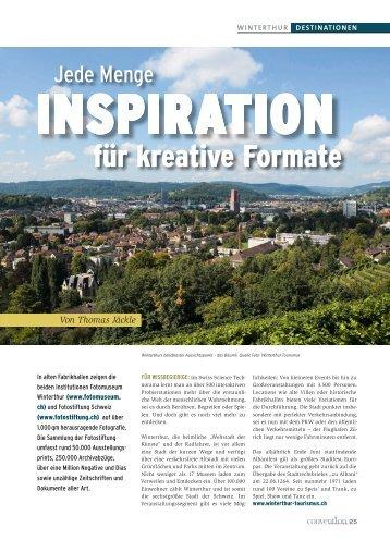 Winterthur: Jede Menge Inspiration für kreative Formate