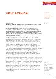 DownloadPressemeldung zum Download - Cornelsen Verlag