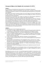 Lösungsvorschläge zu den Aufgaben der Lernsituation 3 (S. 50 ff.)