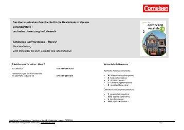 Das Kerncurriculum Geschichte für die ... - Cornelsen Verlag