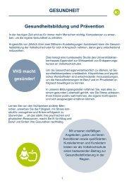 Gesundheitsbildung und Prävention GESUNDHEIT - Cottbus