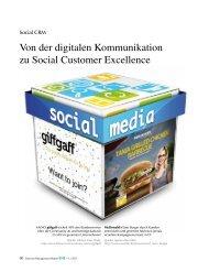 Von der digitalen Kommunikation zu Social Customer ... - CRM Finder