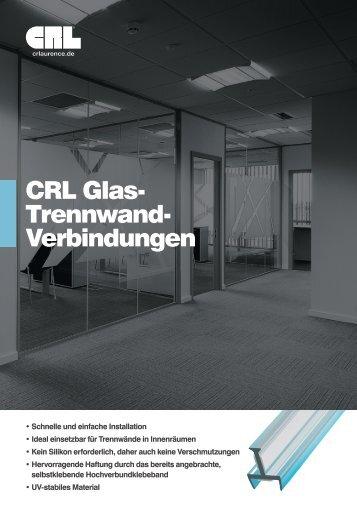 CRL Glas- Trennwand- Verbindungen - bei CRL