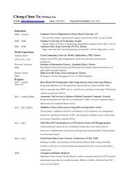 Curriculum Vitae - Computer Science Department - Stony Brook ...