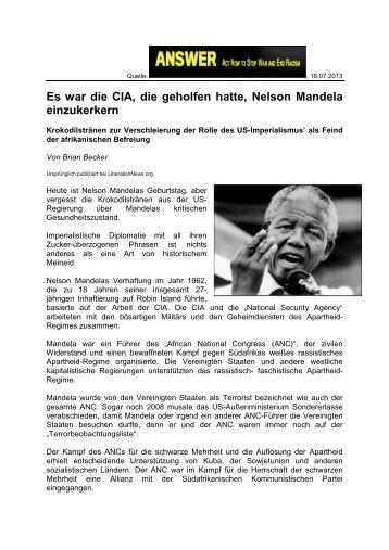 Es war die CIA, die geholfen hatte, Nelson Mandela einzukerkern