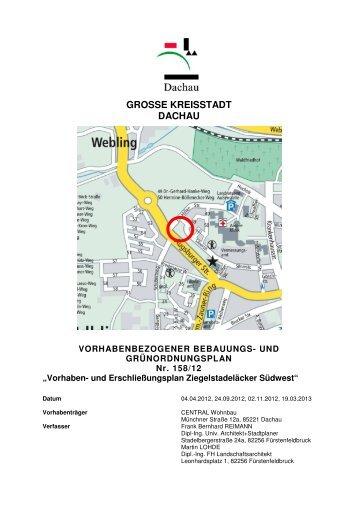 158-12 Vorhaben und Erschließungsplan ... - Dachau