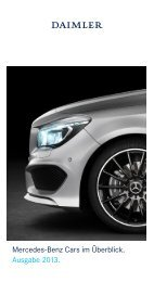 Mercedes-Benz Cars im Überblick. Ausgabe 2013. - Daimler