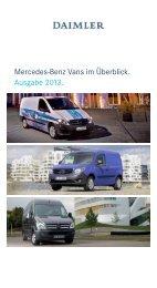 Mercedes-Benz Vans im Überblick. Ausgabe 2013. - Daimler