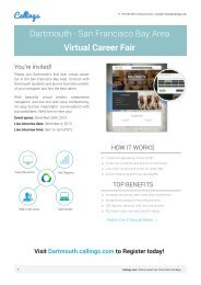 Dartmouth - San Francisco Bay Area Virtual Career Fair