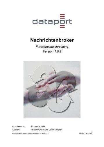 Funktionsbeschreibung Nachrichtenbroker - Dataport