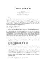 Übung - Angriffe auf IPv6.pdf - Universität Freiburg
