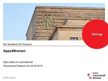 Apps4Bremen: Vortrag bei der Hausmesse Dataport am 23.04.2013