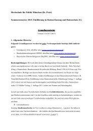 Einführung in Datenerfassung und Datenschutz - Bayerischer ...