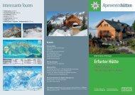 Erfurter Hütte Interessante Touren - DAV Ettlingen