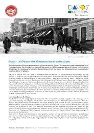 Davos – der Pionier des Wintertourismus in den Alpen