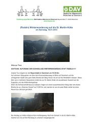 (Rodeln) Winterwanderung auf die St. Martin-Hütte - München und ...