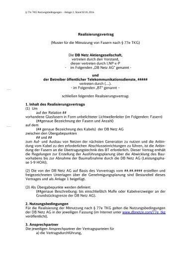 Anlage 2a Nbs At Muster Grundsatz Inv Evu 2014 Db Netz Ag