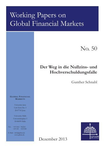 Working Papers on Global Financial Markets