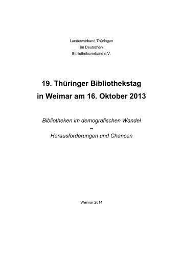 Bibliotheken im demografischen Wandel - Digitale Bibliothek ...