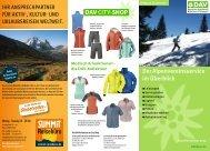 Der Alpenvereinsservice im Überblick DAV CITY-SHOP