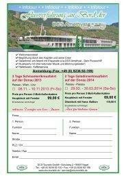Flussverführung an Bord der - DCS Touristik