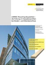 LINIREC Recycling Bauplatten - - Decke-wand-boden.de
