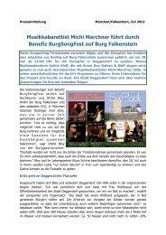 Musikkabarettist Michi Marchner führt durch Benefiz ... - Deggendorf