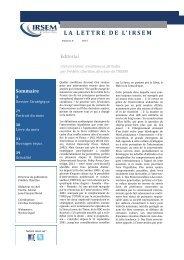 La Lettre de l'IRSEM n°8 - Ministère de la Défense