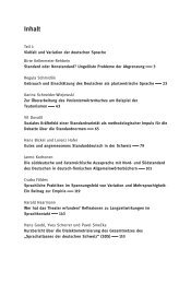 Inhaltsverzeichnis - Walter de Gruyter
