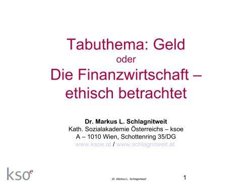 Dr. Markus L. Schlagnitweit