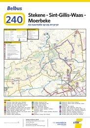 Belbus 240 Stekene - Sint-Gillis-Waas - Moerbeke (pdf - 3 ... - De Lijn