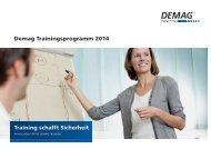 Trainingsprogramme 2014 - DEMAG Cranes & Components GmbH