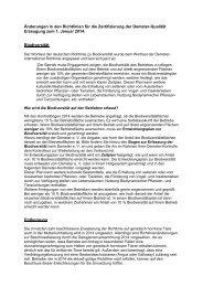 Änderunge für die Zertifizierung zum 1. Januar 2014 - Demeter