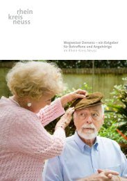 Wegweiser Demenz - Demenz-Servicezentrum Region Düsseldorf