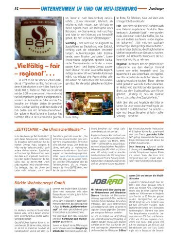 """Vielfältig – fair – regional"". . . - Isenburger"