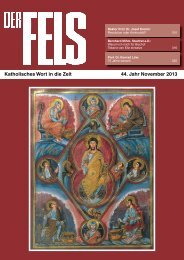 Katholisches Wort in die Zeit 44. Jahr November 2013 - Der Fels
