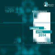 Programm Januar bis April 2014 - in Denkingen