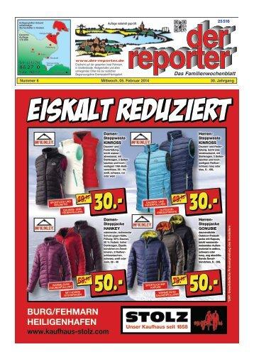der reporter - Das Familienwochenblatt für Fehmarn 2014 KW 06