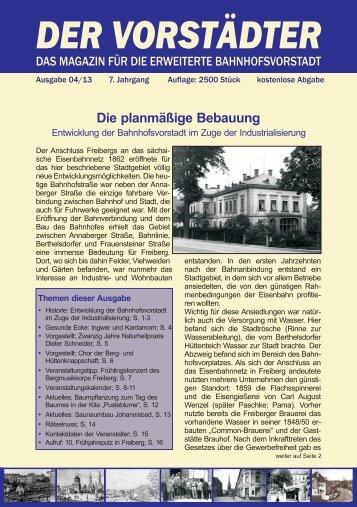 Ausgabe April 2013 - Der Vorstädter