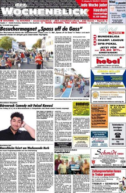 Ausgabe B Nauheim, Königstädten, Trebur, Astheim ... - Wochenblick