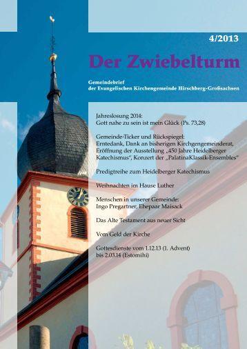 neuer Gemeindebrief 4-2013 - Evangelische Kirchengemeinde ...