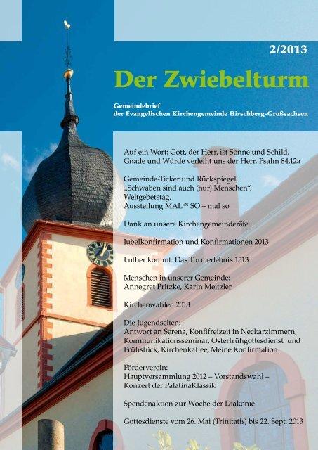 Ausgabe 2-2013 - Evangelische Kirchengemeinde Hirschberg ...